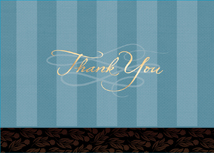 Blue Stripes Thank You Card